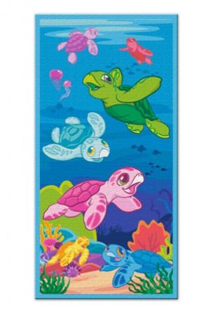 "beach towel - ""honu/turtle family"""
