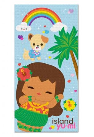 """beach towel - """"island yumi - aloha blue"""""""