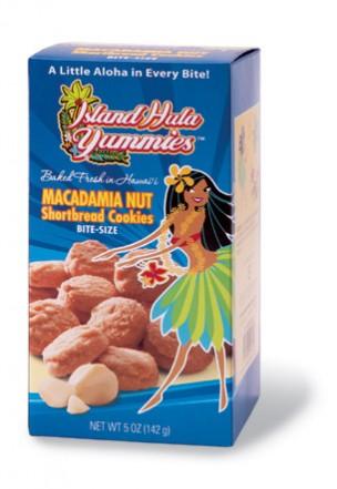 "Island Hula Yummies - BITE SIZE ""Macadamia Nut Shortbread"" Cookies"