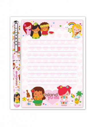 "stationery set - ""island yumi"""