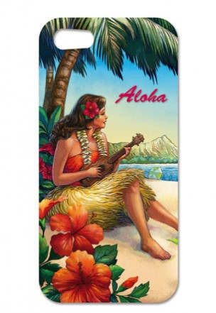 "iphone 4/4s case - ""vintage hawaii"""