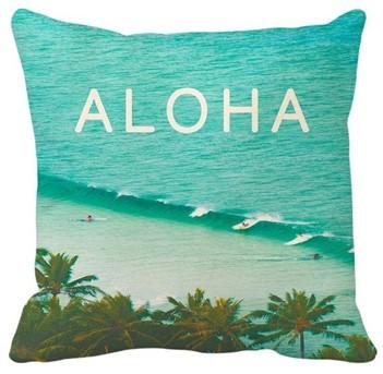 "canvas pillow cover - ""aloha surf"""
