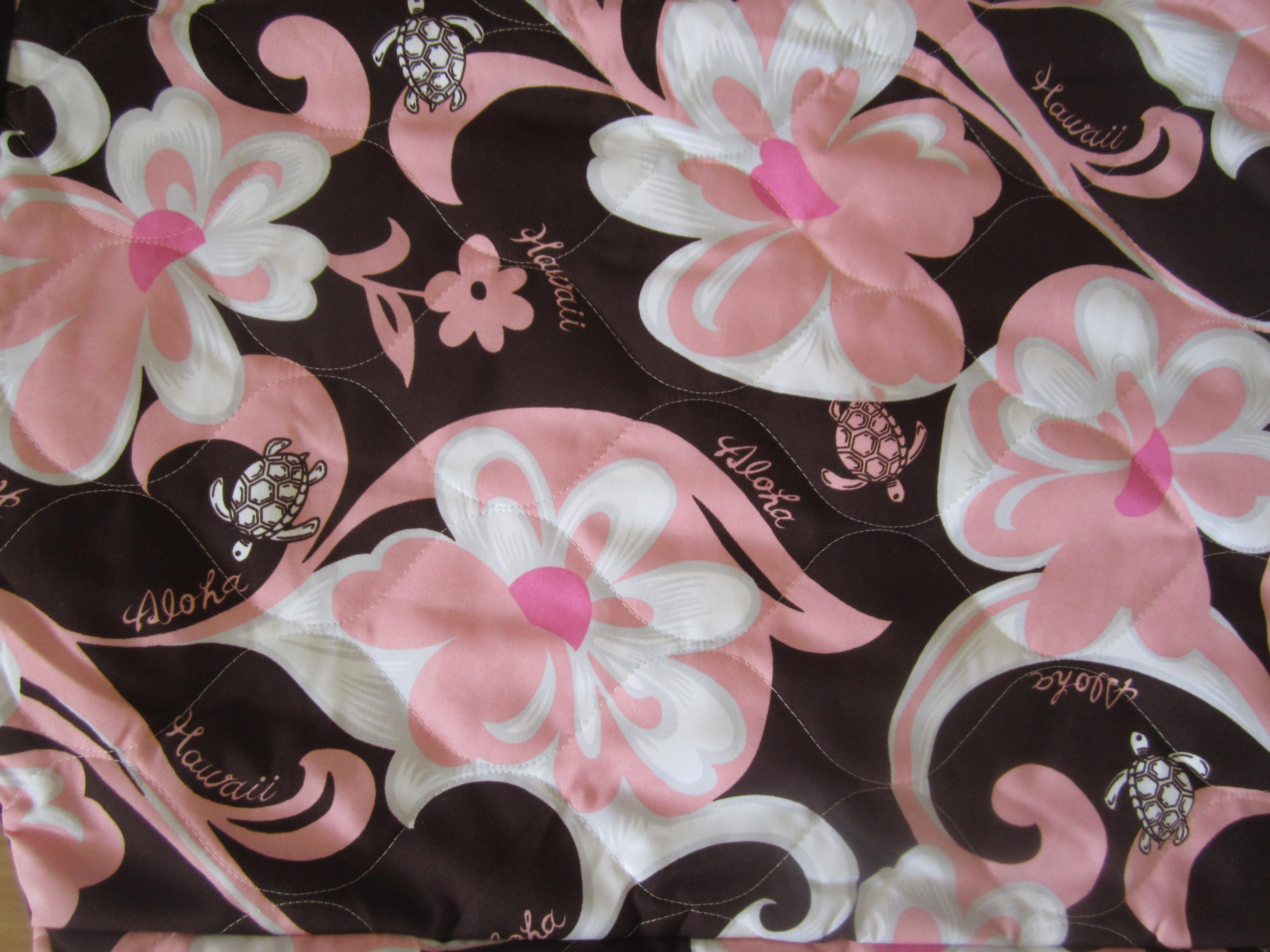 pink brown aloha flowers