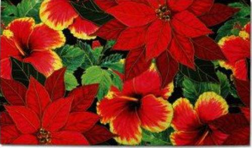 poinsettia hibiscus mat