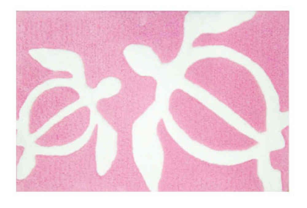 turtle area rug (pink)
