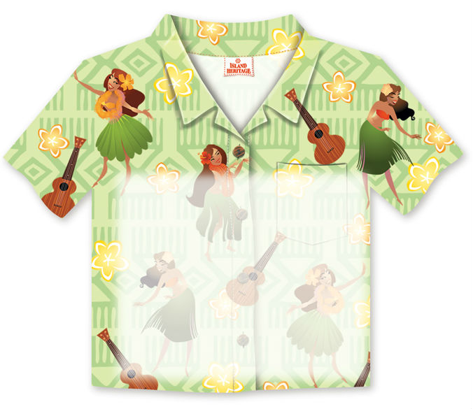 "aloha shirt sticky notes - ""hula hukilau"""