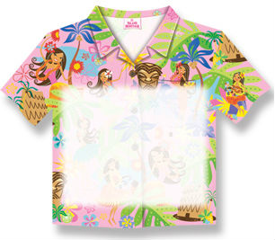 "aloha shirt sticky notes - ""island hula honeys, too"""