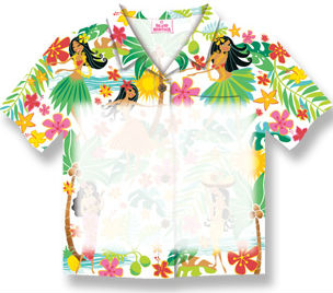 "aloha shirt sticky notes - ""island hula honeys"""