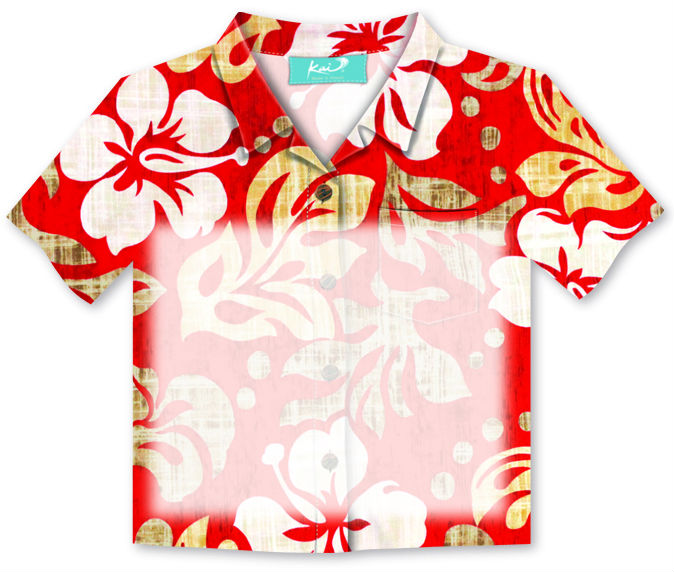 "aloha shirt sticky notes - ""pareo red"""