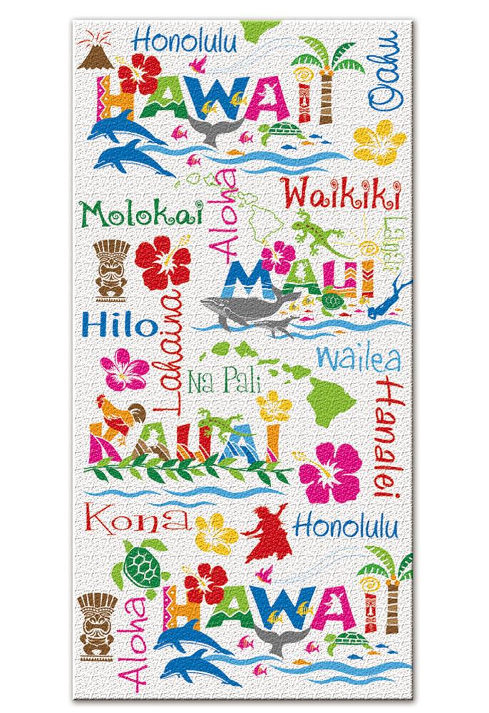 """beach towel - """"hawaiian adventures"""""""