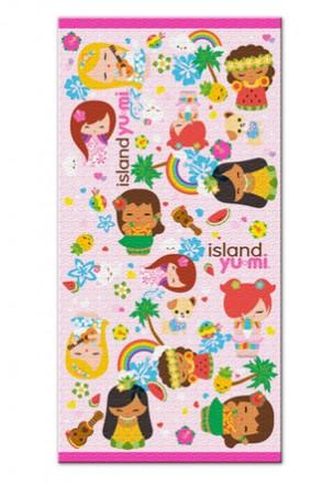 "beach towel - ""island yumi - pink"""
