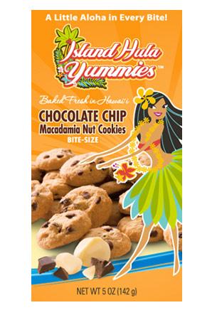 "Island Hula Yummies - BITE SIZE ""Chocolate Chip Macadamia Nut"" Cookies"