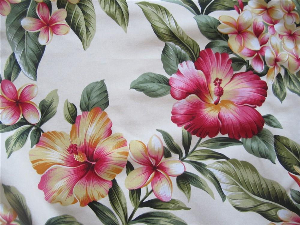 """cream - tropical flowers"""