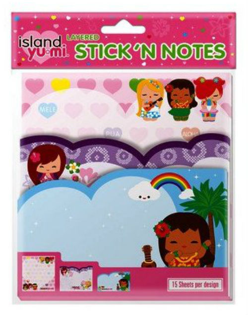 "layered sticky notes - ""island yumi"""
