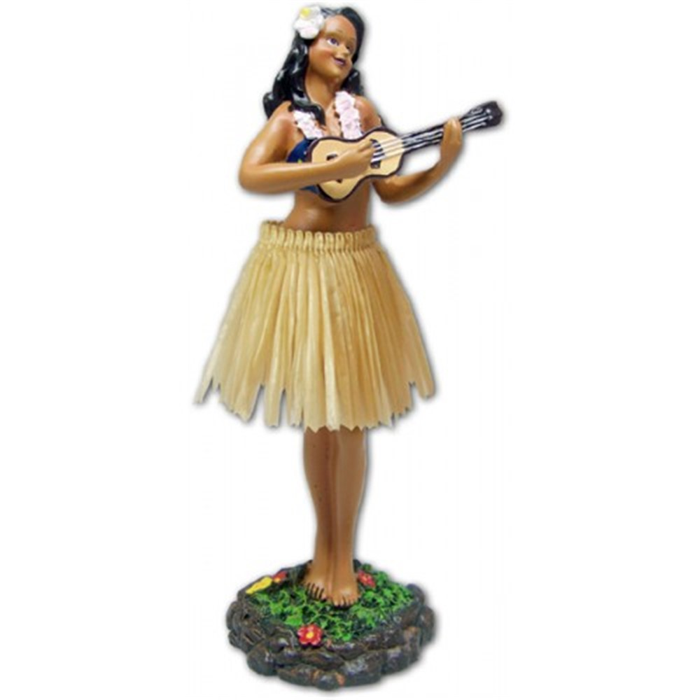 """leilani - ukulele"" (natural color skirt)"