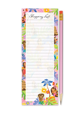 "list pads with pencil - ""island hula honeys - pink"""