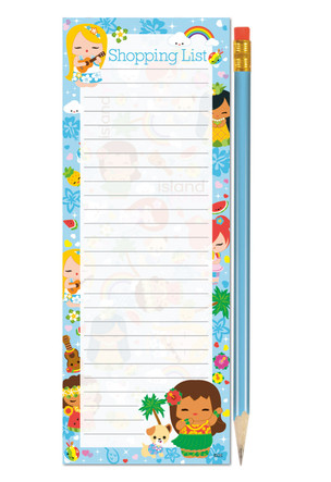 "list pads with pencil - ""island yumi - blue"""