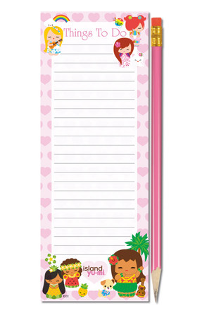 "list pads with pencil - ""island yumi - pink"""