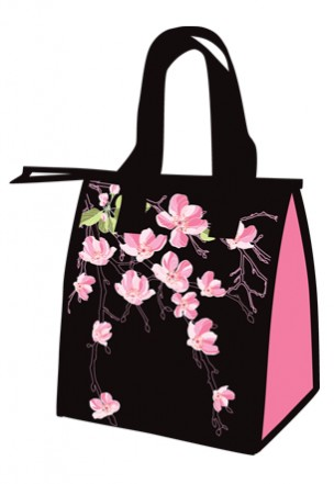 "lunch totes - ""cherry blossom"""