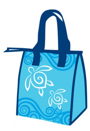 "lunch totes - ""honu swirl"""