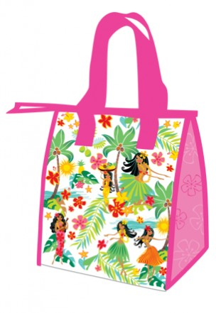 "lunch totes - ""island hula honeys - pink"""