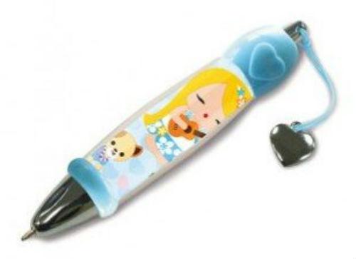 "mini ballpoint pen - ""island yumi mele - blue"""