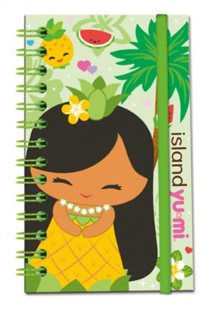 "green elastic notebook - ""island yumi - mai"""