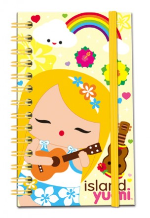 "yellow elastic notebook - ""island yumi - mele"""