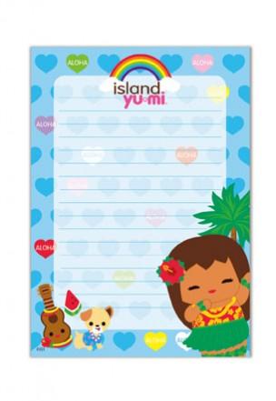 "notepad - ""island yumi - aloha"""
