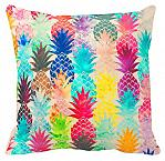 """canvas pillow cover - """"colorful pineapples"""""""