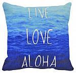 "canvas pillow cover - ""live love aloha"""