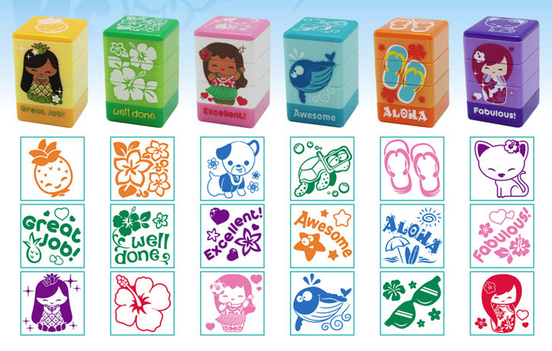 stamps - set of 3 (your choice)
