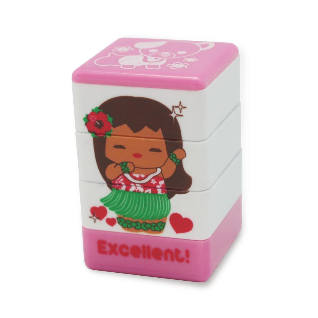 """stamps - """"aloha"""" (pink)"""