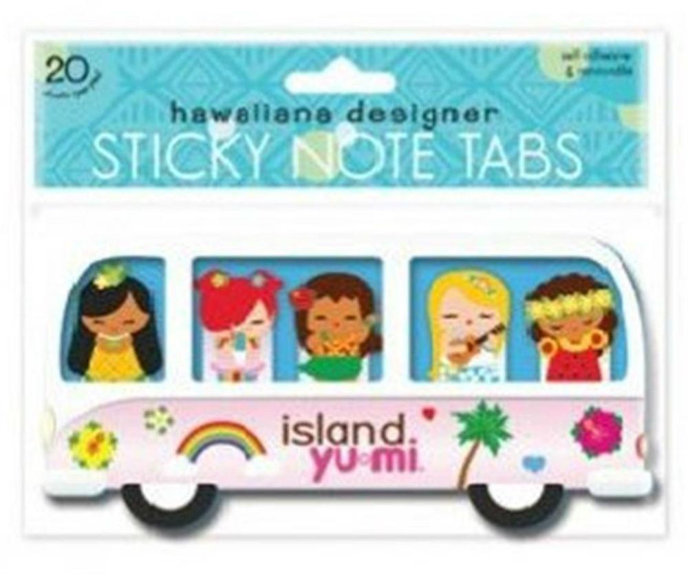 "mini sticky tabs - ""island yumi - bus"""