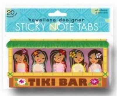 """mini sticky tabs - """"tiki bar - hula girls"""""""