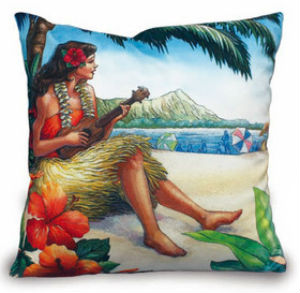 velvet pillow cover - vintage hawaii